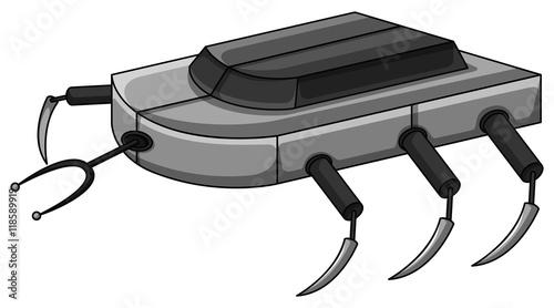 Photo Robot machine with many legs