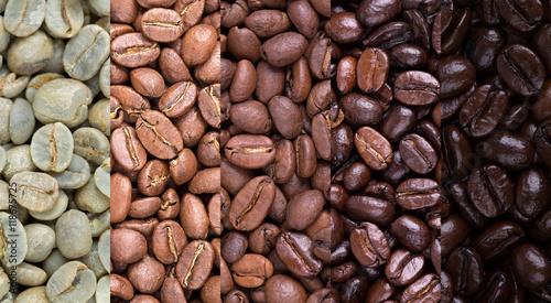 Obraz na plátne Coffee bean collage