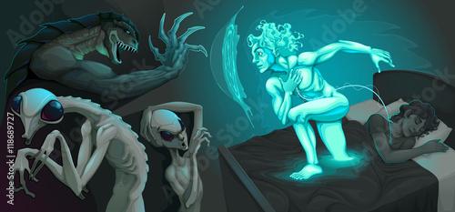 Fotografija Fighting scene between my astral body and aliens
