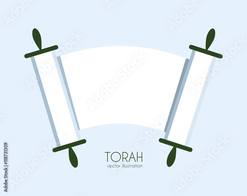 Fotografie, Obraz Torah scroll icon
