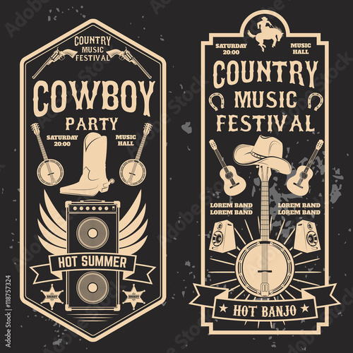 Fotografia, Obraz Country music festival flyer.