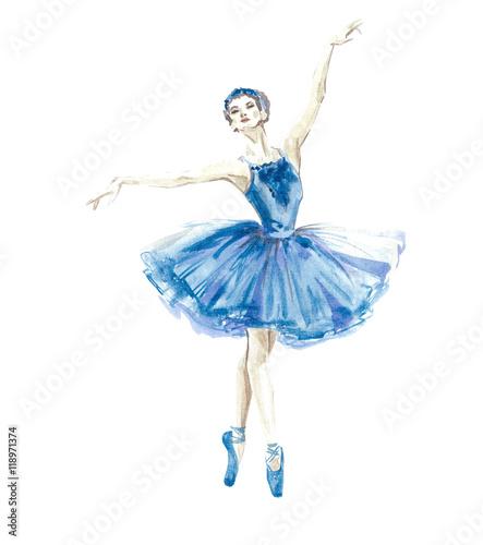 Obraz na płótnie Watercolor ballerina