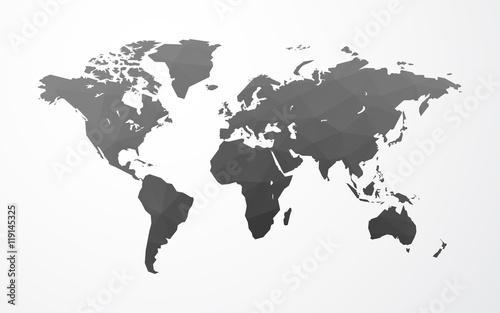 vector world map illustration low poly Fototapeta