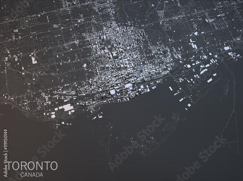 Photo Toronto mappa, vista satellitare, Ontario, Canada