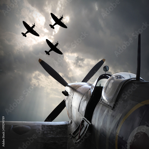 Canvas-taulu The Fighter planes