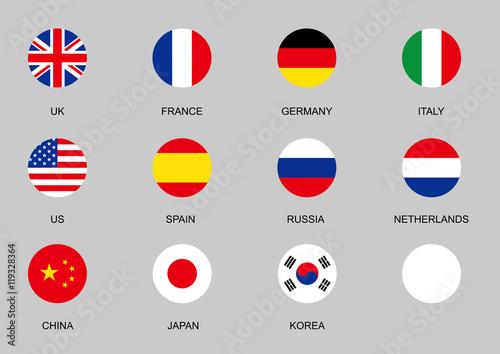Foto national flag circle icon