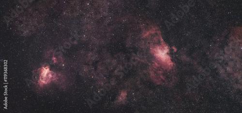 Eagle Nebula an Swan Nebula in Widefield