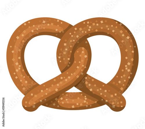 Fotografie, Obraz delicious pretzel isolated icon vector illustration design