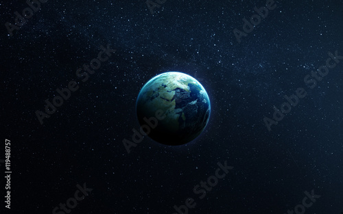 Canvas Print The Earth from space showing all they beauty