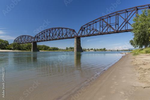 Tableau sur Toile Railroad Bridge Over Missouri River