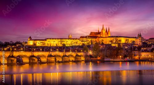 Slika na platnu Sunset in Prague