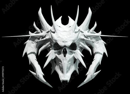 Obraz na płótnie Skull design on a black background for Halloween.