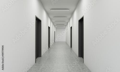 Stampa su Tela Office corridor