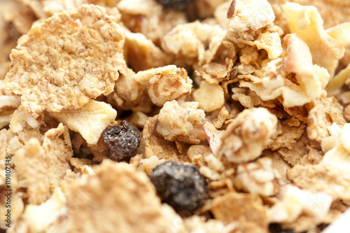 Canvas Print breakfast cereal with raisins
