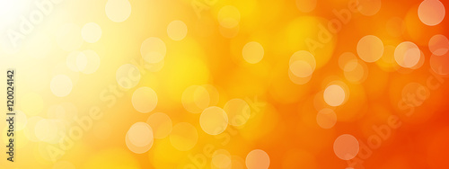 abstract orange bokeh background