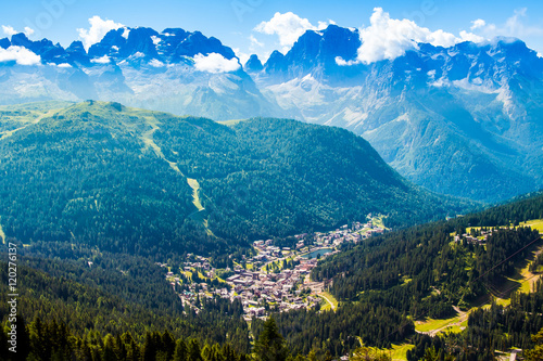 Fotomural view of Madonna di Campiglio, a town in Trentino , Italy