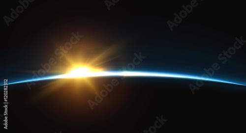 Tablou Canvas Planet earth sunrise