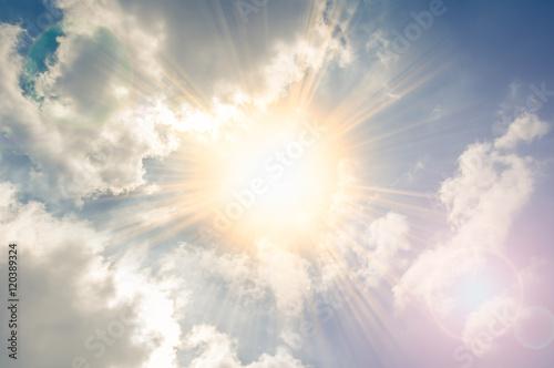 Fototapeta Clouds and sunlight effect.
