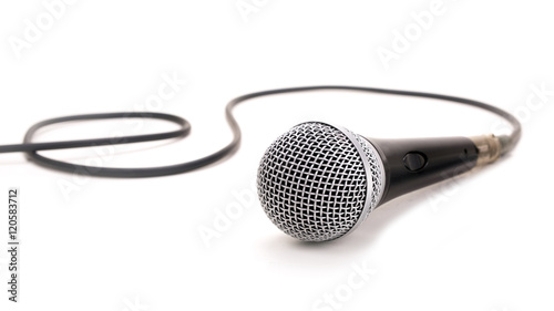 Fotografia Microphone isolated on a white background
