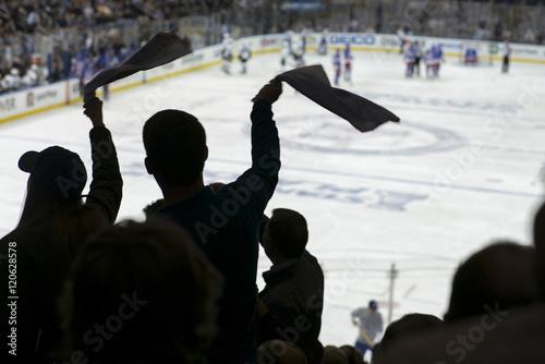 Wallpaper Mural Cheering crowd at a hockey game, Madison Square Garden, Manhattan, New York City