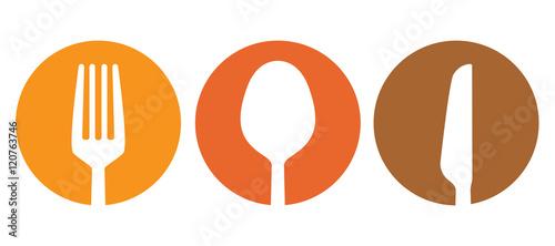 Fotografie, Obraz Spoon fork and knife besteck vector