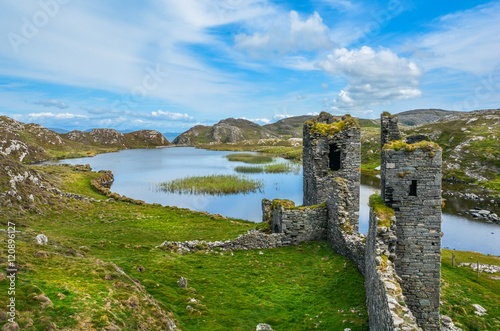 Ruins of Three Castle Head, County Cork, Ireland