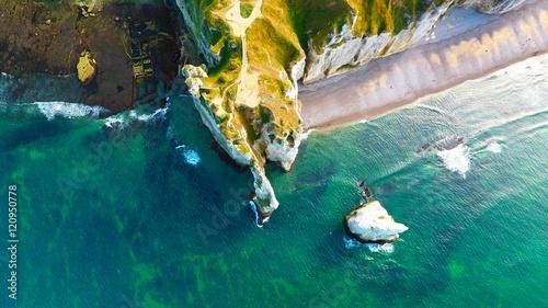 Fotografiet Les falaises d'Etretat, en Normandie