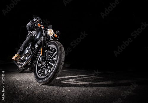 Close up of a motorcycle Fototapeta