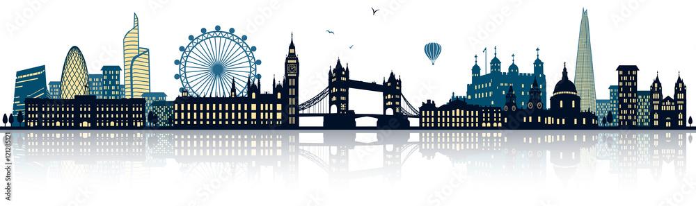 Londyn Skyline <span>plik: #121285121   autor: pixelliebe</span>