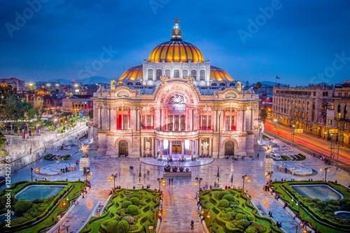 Mexico City - The Fine Arts Palace aka Palacio de Bellas Artes