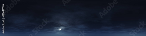 360 degree seamless panorama of clouds at night