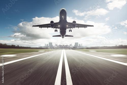 Tableau sur Toile Atterrissage d'avion