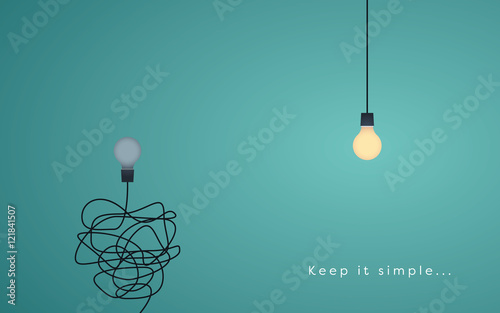Keep it simple business concept for marketing, creativity, project management.