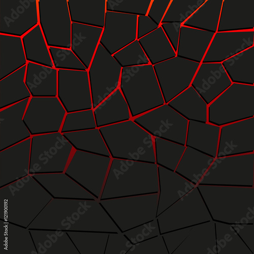 Abstract vector background with cracked ground and lava. Eps 10 Fototapete