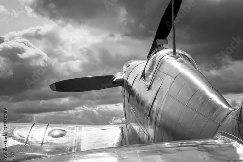 Supermarine Spitfire - mono Poster Mural XXL