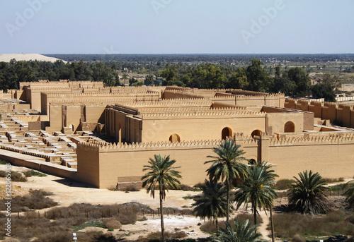 Restored ruins of ancient Babylon, Iraq.