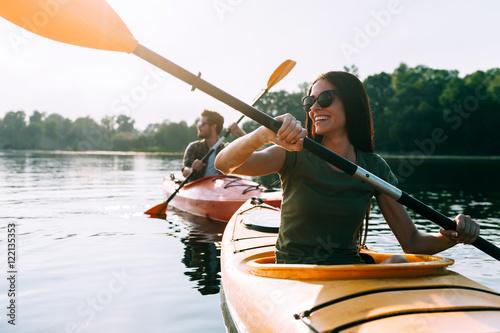 Nice day for kayaking.
