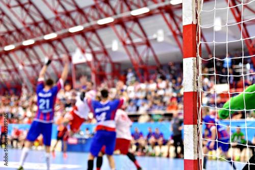 Obraz na plátne Handball match action scene