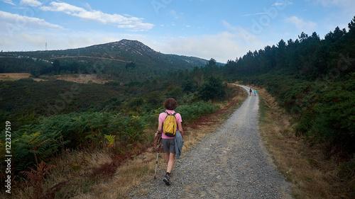 Fényképezés Pilgrims, Road to Compostela, pilgrims Road to French Santiago de Compostela, Ga