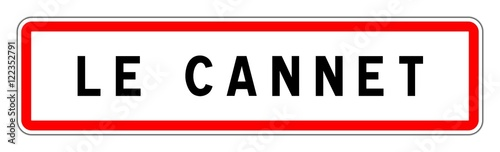 Photo LE CANNET panneau entrée agglomération