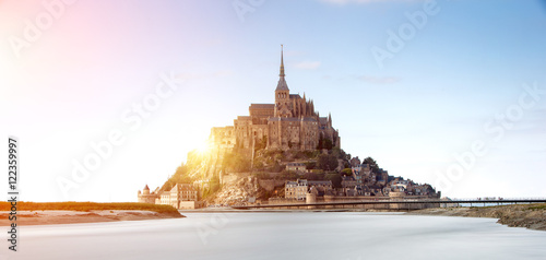 Canvas Print Mont saint Michel in Normandy, France