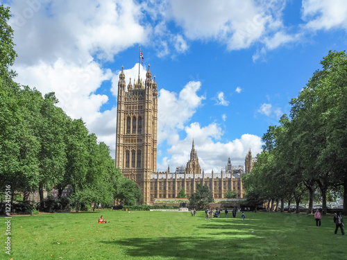 Photo Victoria Tower on a summer day, the south-west end of the Palace of Westminster