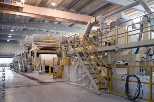 Valokuvatapetti Paper and pulp mill - Factory, Plant