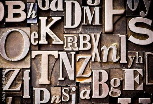 Vászonkép Random Alphabet