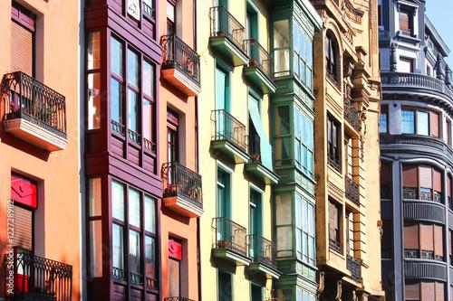 Canvas-taulu Immobilier / Bilbao (Espagne)