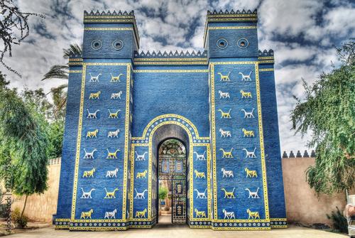 Fotografía Copy of Ishtar gates in Babylon ruines , Iraq
