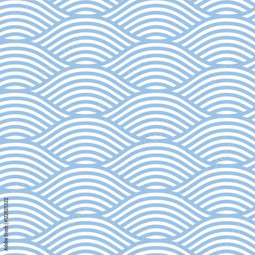 Seamless line wave background pattern Fototapet