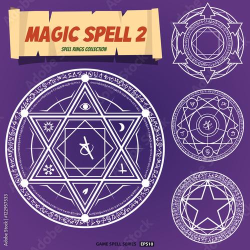 Canvas Print Magic spells ring