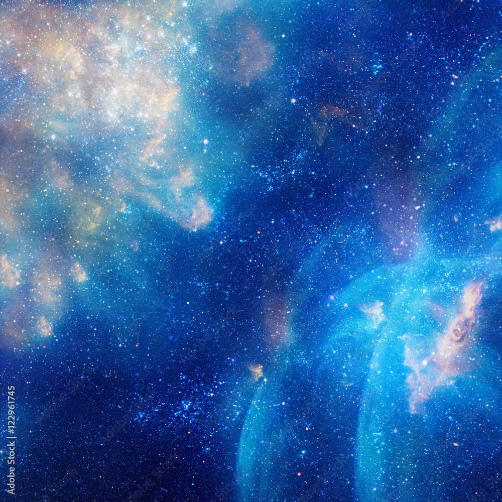 Galaxy ilustracja, tło z gwiazdami, mgławica, chmury kosmosu <span>plik: #122961745 | autor: kirasolly</span>