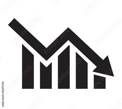 Fotografija chart with bars declining. Chart icon